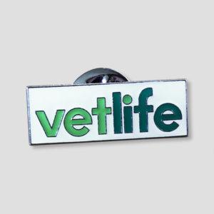 Vetlife pin badge